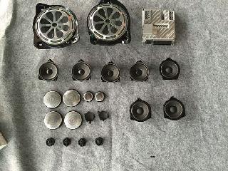 奔驰19、20款E级E300L改装小柏林之声音响原厂配件安装