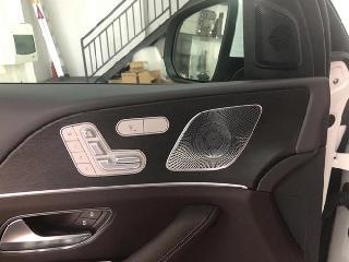 奔驰20款21款GLE350升级小柏林之声音响原厂配件安装作业效果案例