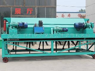 生活垃圾槽式有机肥翻堆机操作简单运行稳定