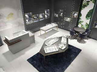 长沙珠宝店装修大气的设计体现华贵的气质