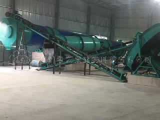牲畜粪便有机肥的处理用有机肥翻堆机提高发酵速度